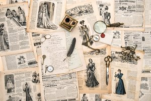 Antique accessories Vintage paper