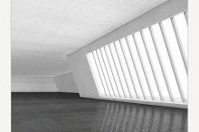 Interior empty 3D rendering
