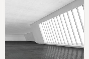 Interior empty 3D rendering
