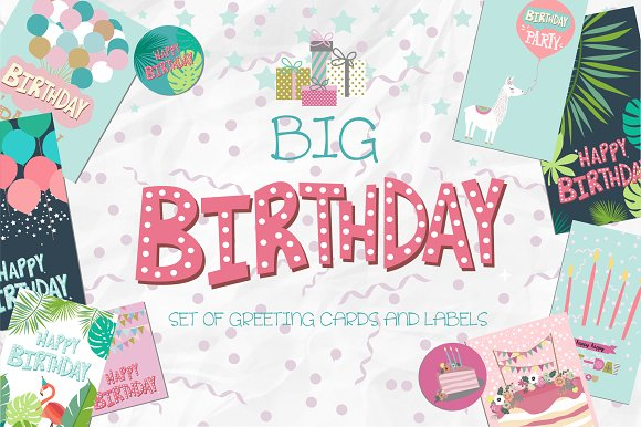 Happy Birthday Cards And Labels