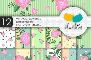 Vintage Flowers patterns.