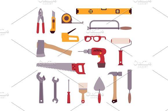 Set Of Construction Tools