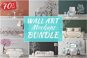 Wall Art Mockups BUNDLE V33