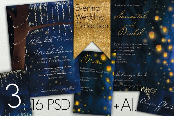 Evening Wedding Collections