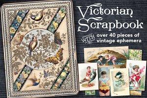 Victorian Scrapbook 45 Vintage Cards