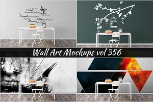 Wall Mockup - Sticker Mockup Vol 356