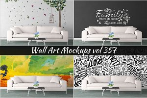 Wall Mockup - Sticker Mockup Vol 357