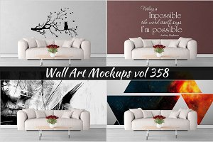 Wall Mockup - Sticker Mockup Vol 358