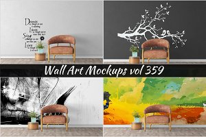 Wall Mockup - Sticker Mockup Vol 359