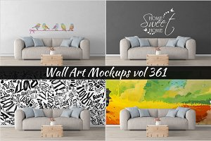Wall Mockup - Sticker Mockup Vol 361