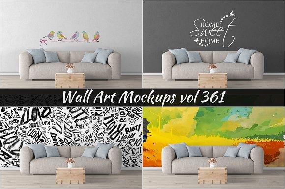 Wall Mockup Sticker Mockup Vol 361
