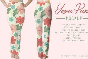 Yoga pant mockup
