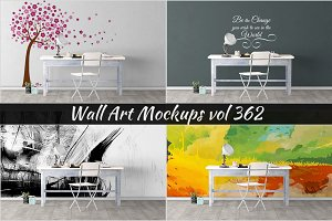 Wall Mockup - Sticker Mockup Vol 362