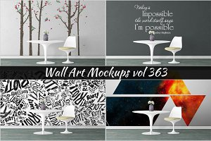 Wall Mockup - Sticker Mockup Vol 363