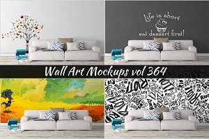 Wall Mockup - Sticker Mockup Vol 364