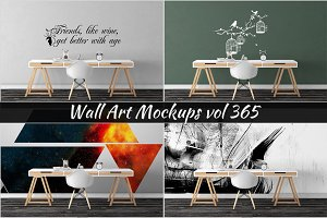 Wall Mockup - Sticker Mockup Vol 365