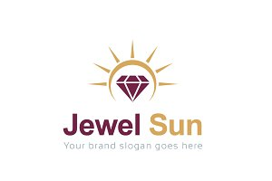 Jewel Sun Logo Template