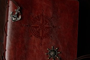 Book with leather cover