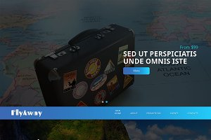 Fly Away Responsive One Page Theme