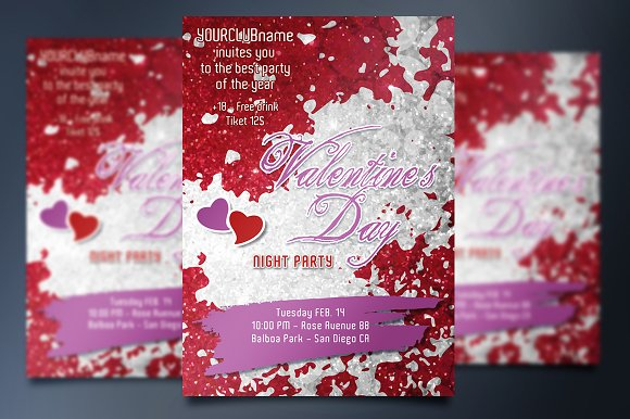 Valentine's Day Party Invite Card