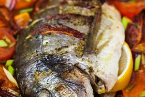 Sea bream fish and vegetables