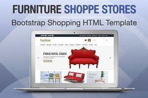 Furniture Shoppe Stores Bootstrap