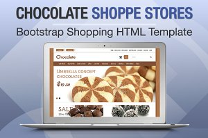 Chocolate Shoppe Stores Bootstrap