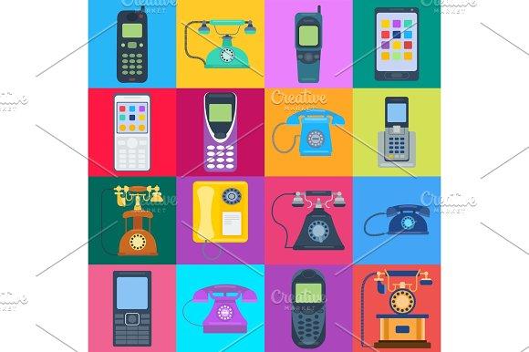 Telephones Vector Icons