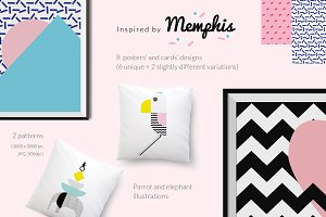 Memphis Design-inspired graphics