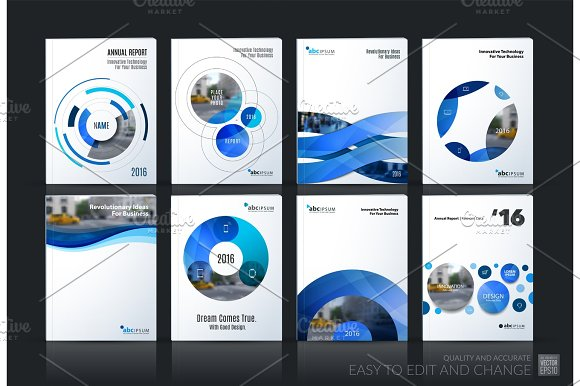 Business Vector Brochure Template Layout Cover Soft Design Ann