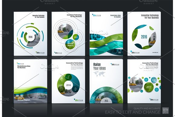 Business vector. Brochure template layout, cover soft design ann in Illustrations
