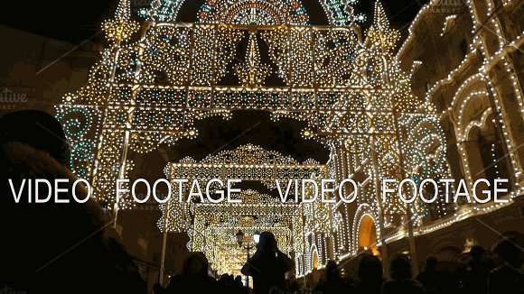 Festive Christmas Illuminations In Moscow