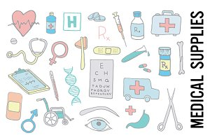 Hospital Medical Supplies Clipart