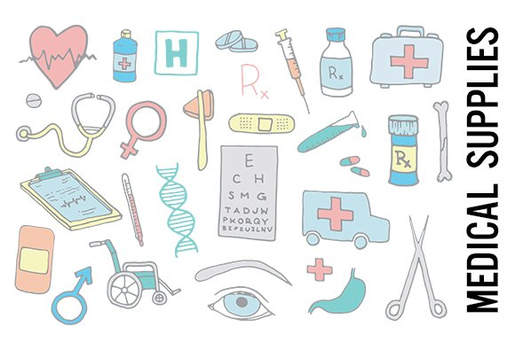 Hospital Medical Supplies Clipart Ilrations
