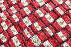 Peru Flag Pattern