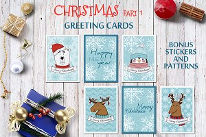 Vector set of Christmas cards