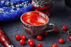 Turkish hookah with fruit