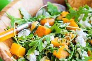 Delicious butternut squash salad