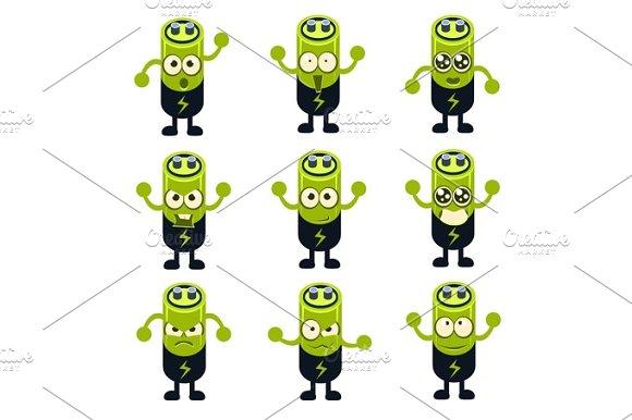 Battery Emoji Character Set