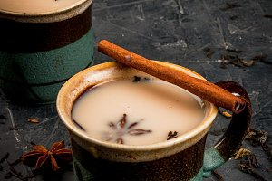Traditional Indian masala chai