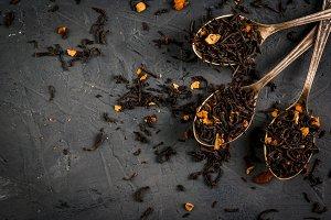 Selection of fragrant tea