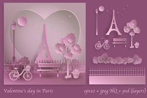 Valentine's day in the Paris
