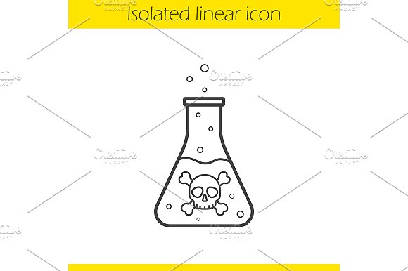 Poison Bottle Icon Vector