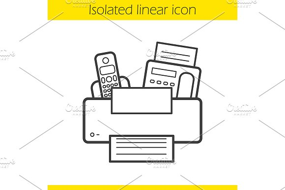 Office Electronics Icon Vector