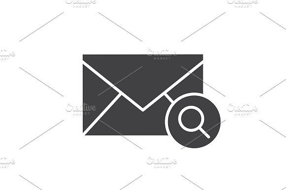 Email Search Icon Vector