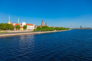 Old Town of Riga and Daugava River