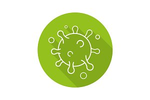 Virus icon. Vector
