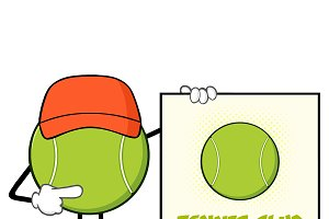 Tennis Ball Character With Hat