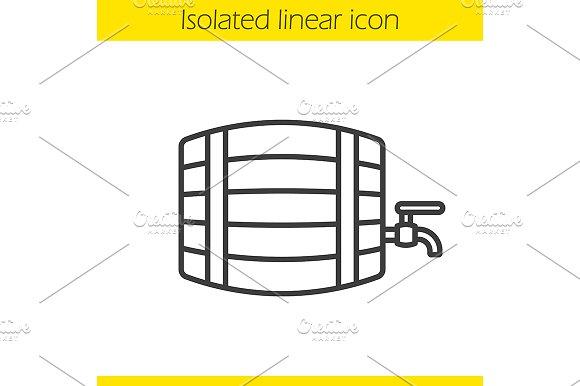 Alcohol Wooden Barrel Icon Vector