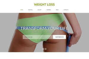 Weight Loss  One Page Theme